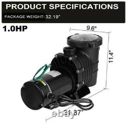 1.0 HP Above-Ground Swimming Pool Pump Motor Strainer Generic UL Certification