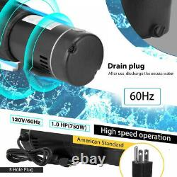 1.0HP 110V Above-Ground Swimming Pool Pump Motor Strainer Generic For Hayward US