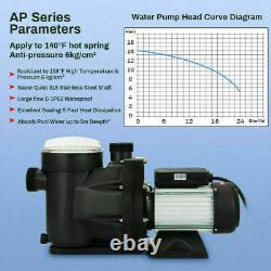 1.5 HP Swimming Pool Pump Motor Hi-Flo Strainer Generic In/Above Ground USA FAST