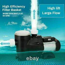 1.5HP Inground Swimming Spa Pool Pump 5040 GPH Speed Motor Energy Saving 3450RPM