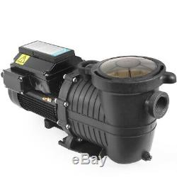1.5HP Swimming Pool Pumps Variable 4-Speed Energy Efficiency Above InGround 220V