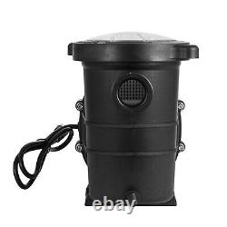 115-230V 1.5HP In/Above Ground Swimming Pool Pump Spa Motor Strainer High-Flow