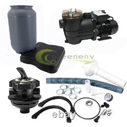 1200GPH 10 Sand Filter Above Ground 0.35HP Swimming Pool Pump intex compatible