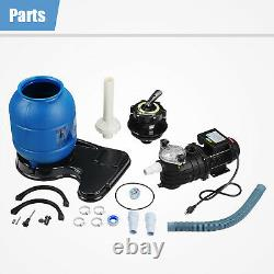 13 Above Swimming Pool Pump Ground Sand Filter 10000GAL 0.35HP Pro 2450GPH
