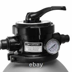 13 Sand Filter with Pool Pump Kit Above Ground Digital Programmer Timer 2640GPH