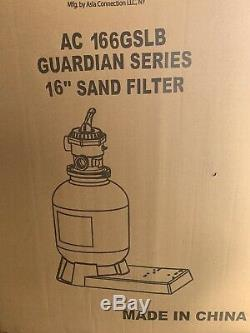 16 Blue Torrent Swimming Pool Sand Filter Above Inground Pond Fountain Pump NIB