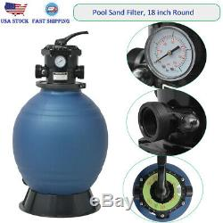 18 Swimming Pool Sand Filter Above Inground Pond Fountain Fit 1HP Pump 1.31.5