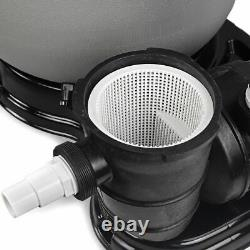 19 Above Ground Swimming Pool Sand Filter System with Pump 4500GPH with 1HP Pump