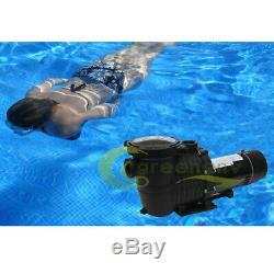 1HP 115V 2-Speed High-Flo INGROUND Swimming POOL PUMP Strainer Energy Saving