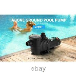 2.0 HP 6800 GPH In/Above Ground Swimming Pool Pump Dual Voltage UL CET Certified