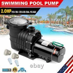 2.0HP Swimming Spa Pool Pump Motor Strainer Inground Above Ground For Hayward US