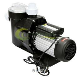 2.5HP Swimming Pool Pump In/Above Ground 1850w Motor With Strainer Basket