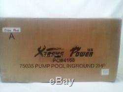 2 Hp Self-Priming Dual Speed In-Ground Pool Pump 2 In. Npt With Strainer Basket