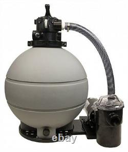 22 Above Ground Pool Sand Filter System with 1 HP Pump 200 lb Sand Capacity