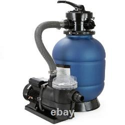 2400GPH 13 Sand Filter with Valve & 3/4HP Swimming Pump Above Ground Pool Pump