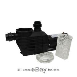 2HP 115-230v IN GROUND Swimming POOL PUMP MOTOR with Strainer 2 thread NPT