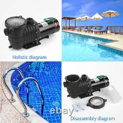 2HP Swimming Pool Pump Motor For Hayward Strainer In/Above Ground 115-230V