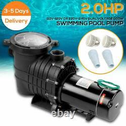 2HP Swimming Pool Pump Motor Hayward withStrainer In/Above Ground 115-230V Hi-Flo