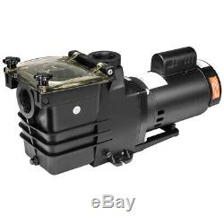 2HP Swimming Pool Pump Motor Strainer Spa 115/230v super flow above In ground