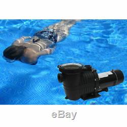 2Speed 1/0.75HP High-Flo INGROUND Swimming POOL PUMP Strainer Energy Saving 115V