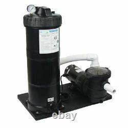 Above Ground Pump 1.5 HP 150 Sq Ft Cartridge Filter System with Element