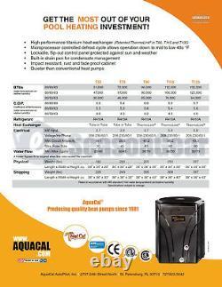 AquaCal T55 Heat Pump, New 2021 TropiCal Model