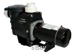 Deluxe Energy Efficient 2 Speed Pump for In-Ground Pool 1.5 HP 230V withFittings