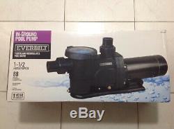 EVERBILT Above Ground Inground Pool Pump 1.5 HP Single Speed 115V 230V Strainer