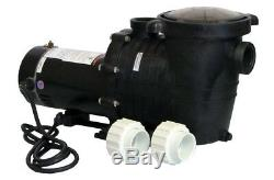 Energy Efficient 2 Speed Pump for In-Ground Pool 1 HP-115V with Fittings