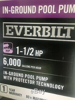Everbilt 1.5 HP 230/115-Volt In-Ground Pool Pump with Protector Technology NEW