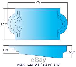 Fiberglass In-ground salt water pool, pump, filter, skimmer, jets, Vac hoses