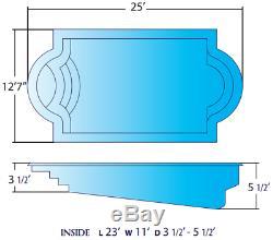 Fiberglass In-ground salt water pool, pumps, filter, railing, skimmer, jets