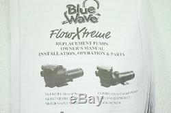 FlowXtreme NE4518 Pro 5280 GPH 1.5 Horse Power In Ground Pool Pump Black