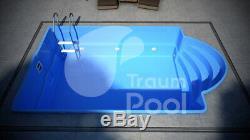 GFK Schwimmbecken Pool 10,3 x 3,7 x 1,5 dabei mit Pump Fertigpool TÜV HERSTELLER