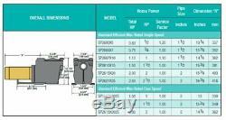 HAYWARD Super Pump Inground Swimming Pool Pump 2 HP 115v/230v 2 Port (Open Box)