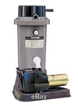 Hayward EC75 DE In-Ground Swimming Pool Filter System with1 HP Super Pump