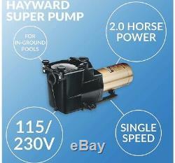 Hayward W3SP2615X20 2 HP High Performance Super Pump Single Speed Inground Pool