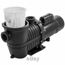 High-Flo Inground Above Ground Swimming Pool Pumps with Strainer Basket Black