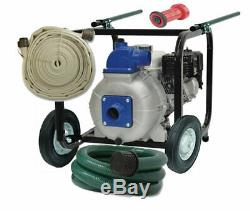 High Performance Portable Fire Pump and Hose System for Pool Wildfire Defense