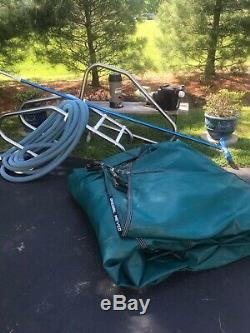 In-Ground Pool Supplies, Meyco Cover, Pump, Stairs, Pole and Brush, Chlorinator