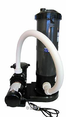 In-Ground Swimming Pool Cartridge Filter System with 0.75 HP Pump