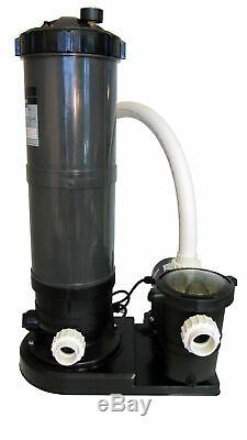 In-Ground Swimming Pool Cartridge Filter System with 1 HP Pump (115-230V)