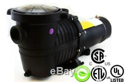 In Ground Swimming Pool Pump HIGH ENERGY SAVING EFFICIENT 1.5HP Water Strainer
