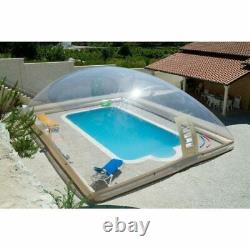 Inflatable Hot Tub Swimming Pool Solar Dome Cover Tent With Blower & Pump