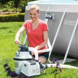 Intex 1600 GPH Krystal Clear Salt Water System inc CHLORINATOR Sand Filter Pump