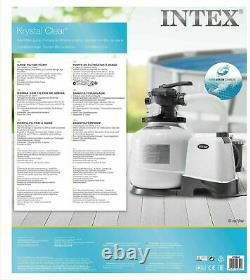 Intex 26676 Chlorine Generator Salt Water CHLORINATOR Sand Filter Pump 1600 GPH