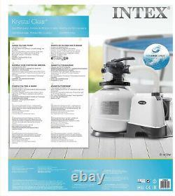 Intex Krystal Clear 2800 GPH 10500 L/h Swimming Pool Sand Filter Pump 26648
