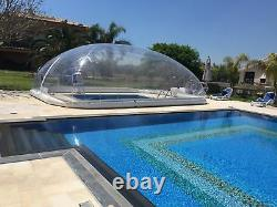 Mini Inflatable TPU Hot Tub Swimming Pool Solar Dome Cover Tent With Blower Pump