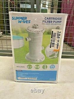 New, Summer Waves 1,000 GPH Pool Filter Pump, Free Expedited Shipping