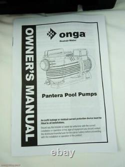 Onga Pantera Pool Pump PPP1500 1.5HP 1.2KW Swimming Pool & Spa Pump
